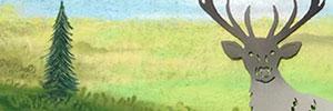 Röhrender Hirsch