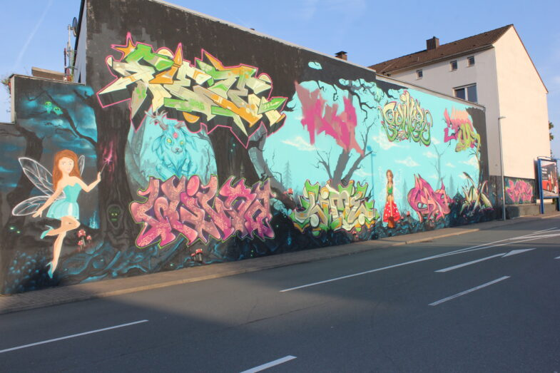 Fabelwesen auf der Wand